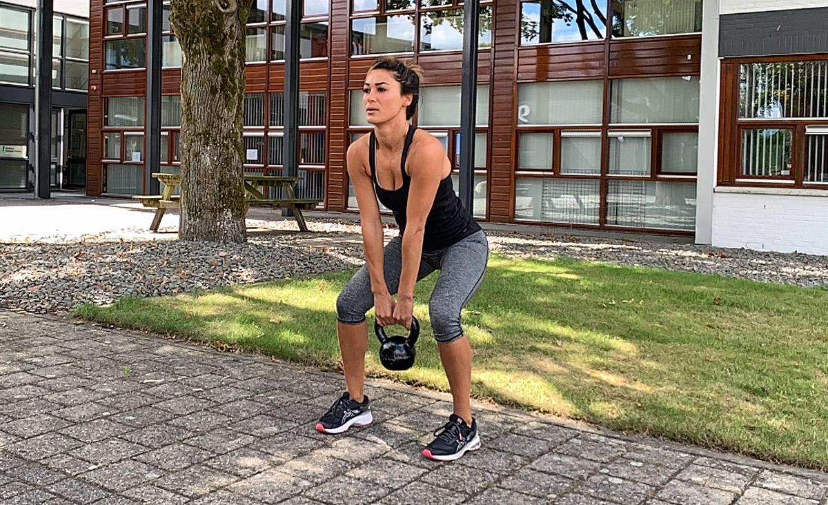 Sammy's Personal Training - buiten sporten - kettle bell